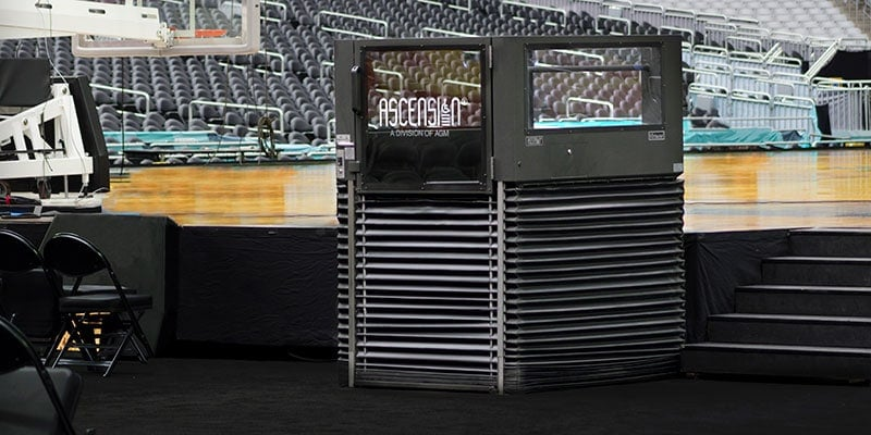 Ascension Wheelchair Lifts are located in convention centers around the world & are the ADA stage accessibility solution to use for any event.