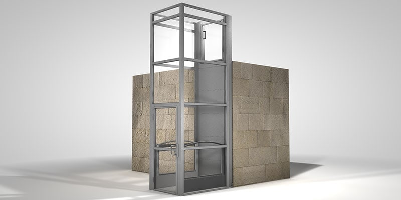 Ascension has a new platform lift, the Clarity 16E, which is fully enclosed and provides access to elevation changes up to 14 ft.