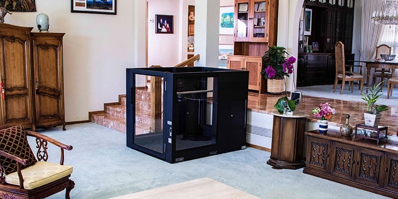 Ascension wheelchair lifts complement luxury homes with open floor plans, clean light-filled spaces, low noise levels & a warranty.