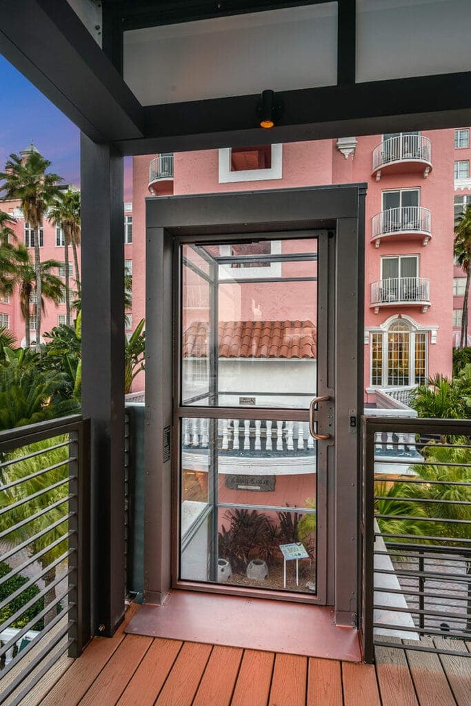 Ascension Clarity Wheelchair Lift Upper Landing Gate Don Cesar Luxury Hotel