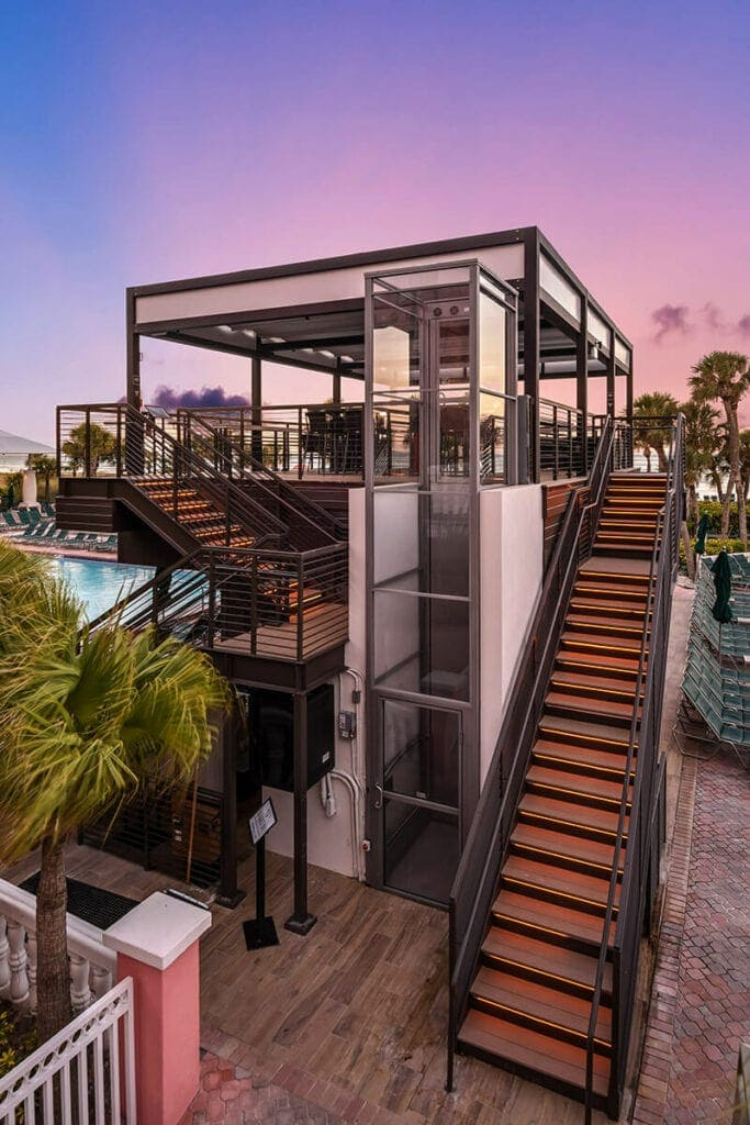 Ascension Clarity Wheelchair Lift Don Cesar Luxury Hotel