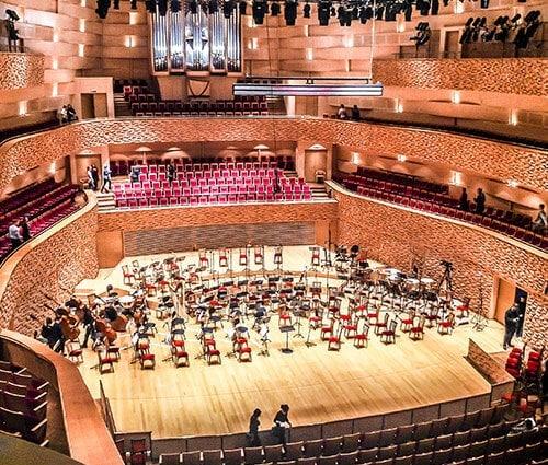 Concert Choir Stage Auditorium Venue Interior