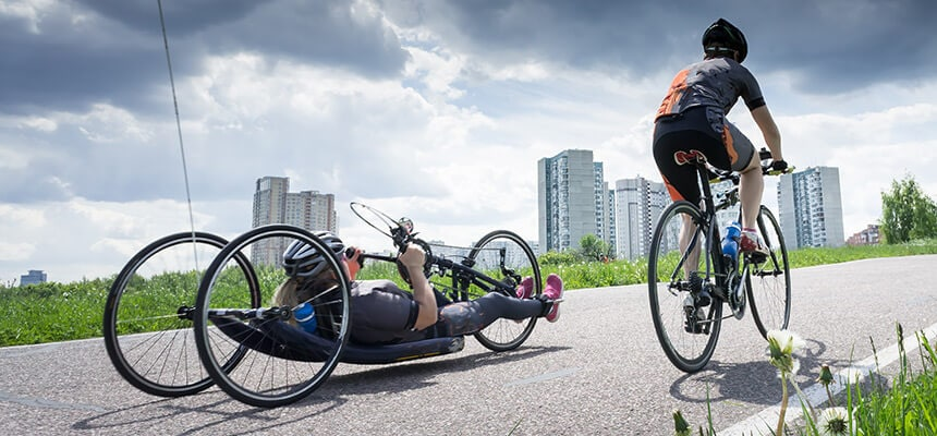 Recumbent Bicyclist Adaptive Cycling
