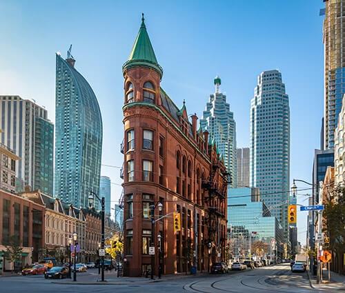 Historic Flatiron Building Toronto