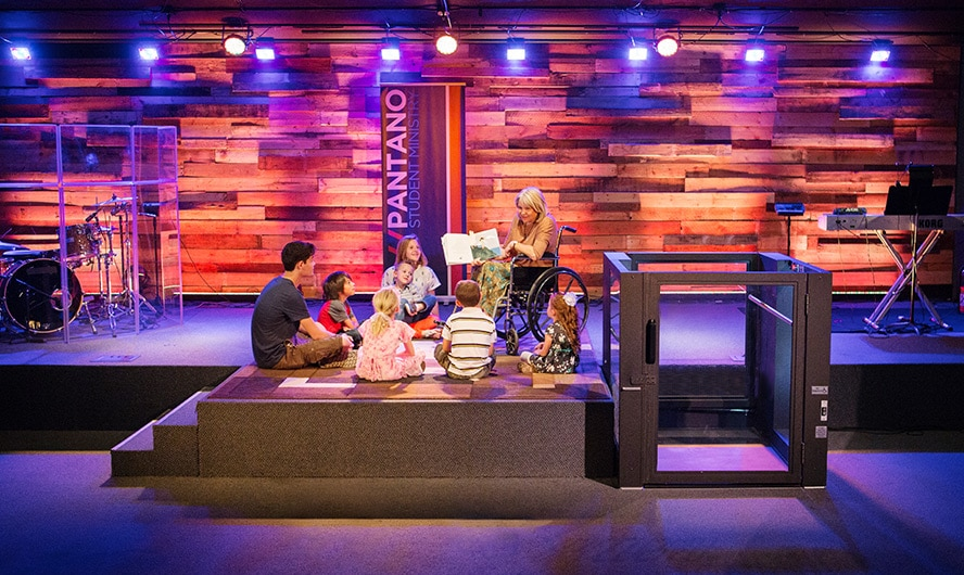 Ascension Wheelchair Lift Protege at Pantano Christian Church Stage